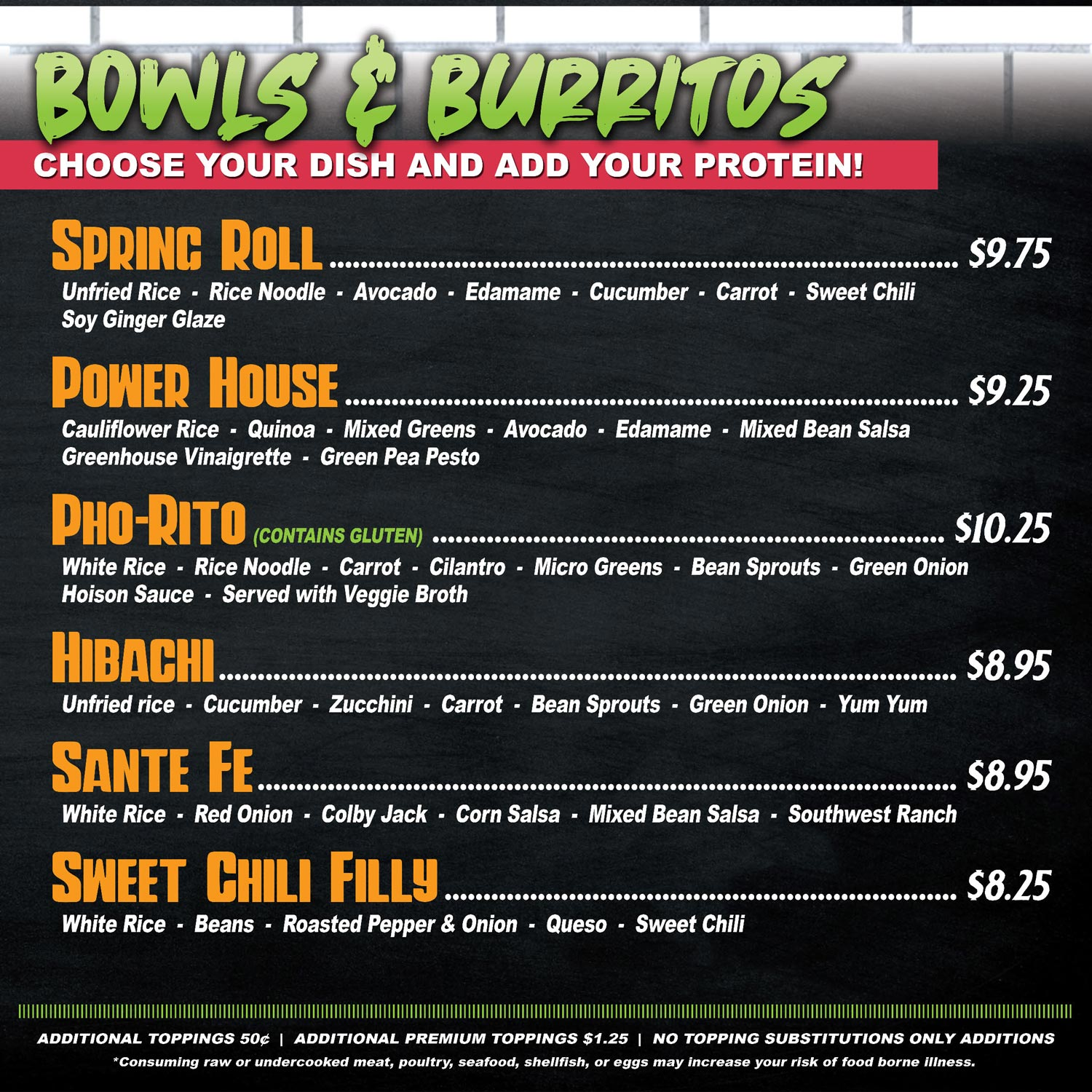 greenhouse kitchen burritos and bowls menu